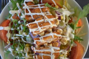 Buffalo Chicken Salad with Bleu Cheese Dressing